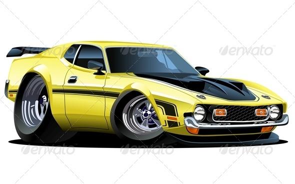 Vector Cartoon Sport Car - Characters Vectors