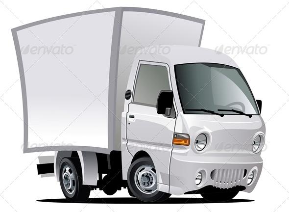 Vector Cartoon Delivery Truck - Characters Vectors