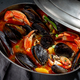 Seafood soup with mussels and crabs in metal pot - PhotoDune Item for Sale