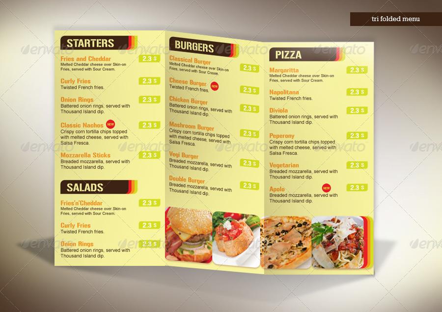 tri fold menu fasti resto by pikoragency graphicriver
