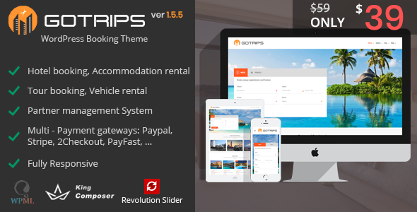 Gotrips | WordPress Travel Booking Theme