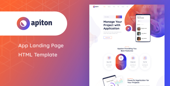 Super Apiton - App Landing Page HTML Template