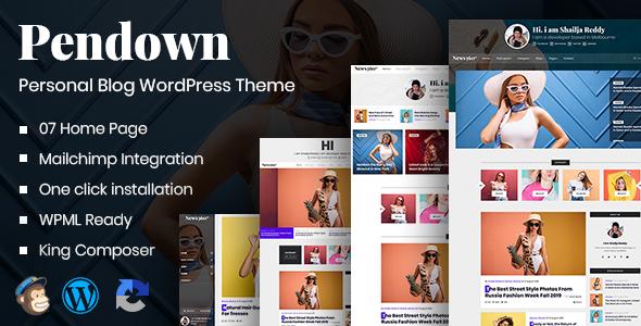 Pendown - Newspaper & Personal WordPress Blog