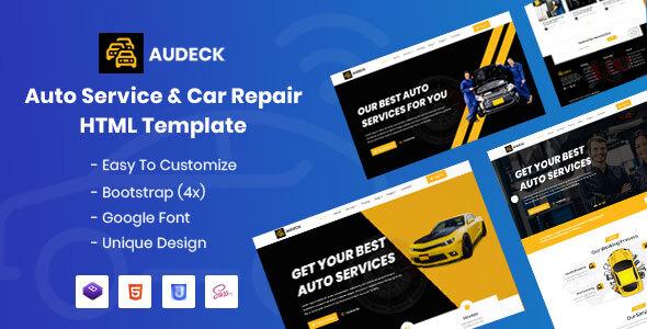 Download Audeck - Auto Servicing HTML Template }}