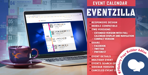 EventZilla - Event Calendar - Addon For WPBakery Page Builder (formerly Visual Composer) }}