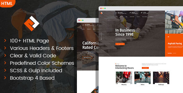 Pawex - Paving Contractor HTML Template
