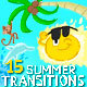 Summer Cartoon Funny Transitions - VideoHive Item for Sale