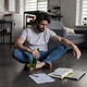 Depressed man thinking over job options - PhotoDune Item for Sale