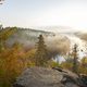Early morning view of a northern Minnesota lake with mist during autumn - PhotoDune Item for Sale
