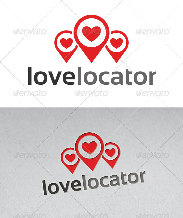 Love Locator Logo - Objects Logo Templates