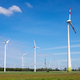 Modern wind turbines in an agricultural area - PhotoDune Item for Sale