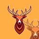 Deer Simple Mascot Logo Template