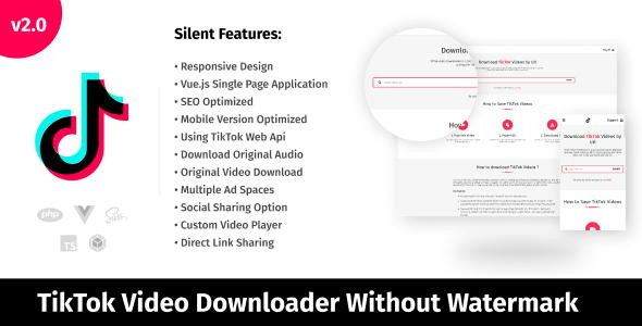 TikTok Video Downloader Without Watermark & Audio Extractor }}