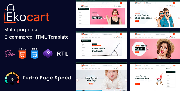 Download Ekocart - Multi-purpose E-commerce HTML5 Template }}