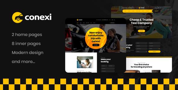 Conexi - Online Taxi Booking Service WordPress Theme