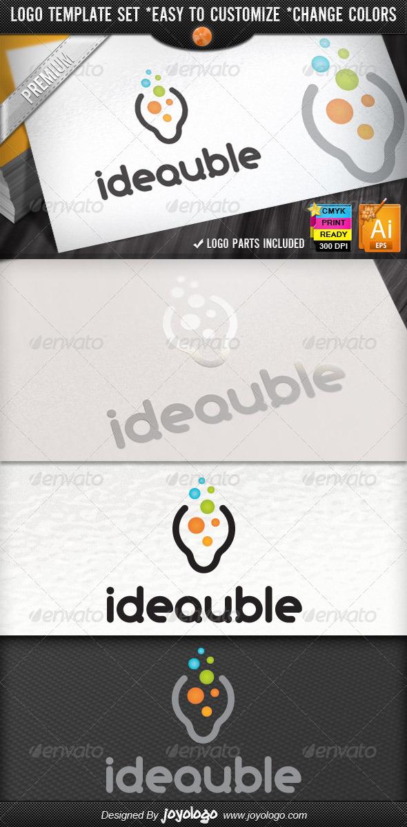 New Bright Think Bubbles Creative Idea Logo Design - Objects Logo Templates