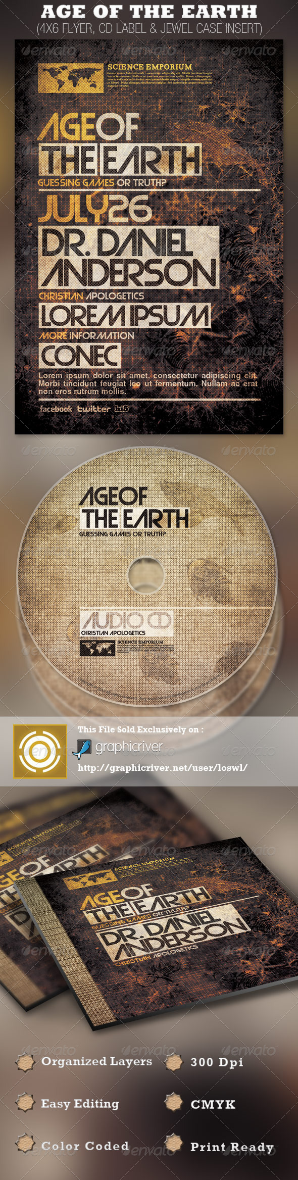 Age of the Earth Church Flyer and CD Template - Church Flyers
