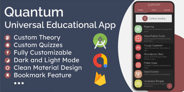 Universal Offline Educational App - Theory (eBook) & Quizzes }}