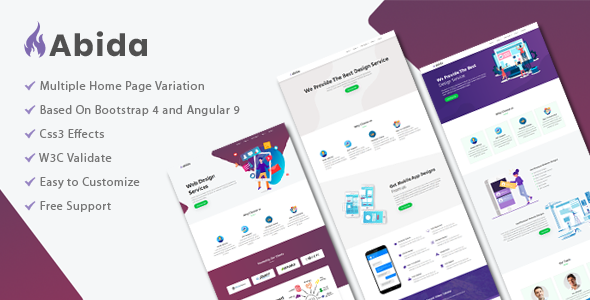 Download Abida - Premium angular template }}