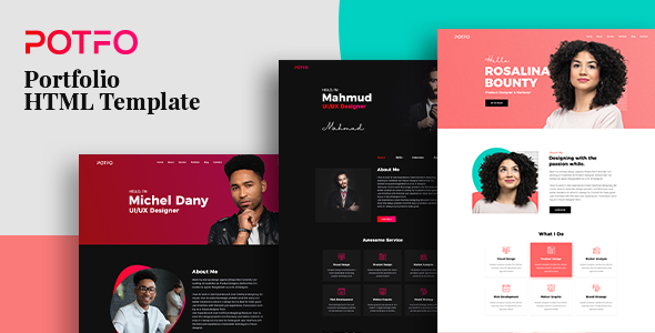 Extraordinary Potfo - Personal Portfolio HTML5 Template with RTL support