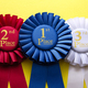 Three rosettes for the winner and runners up - PhotoDune Item for Sale