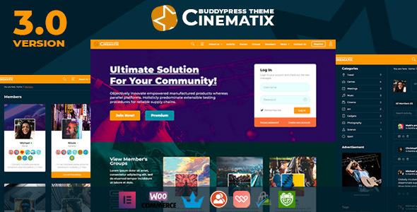 Cinematix - BuddyPress Nouveau Membership Theme