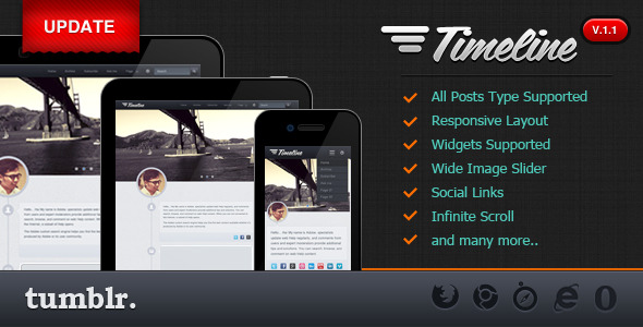 Free Download Timeline - Premium Tumblr Theme Nulled Latest Version