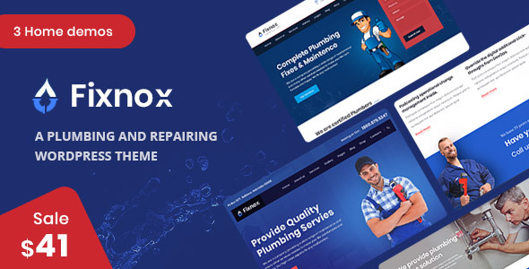 Fixnox - A Perfect Plumbing WordPress Theme by ThemeArc | ThemeForest