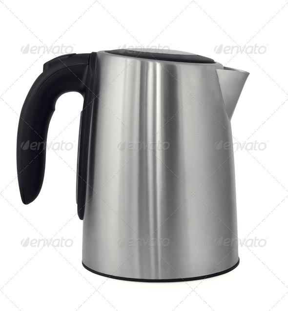 Steel kettle - Stock Photo - Images