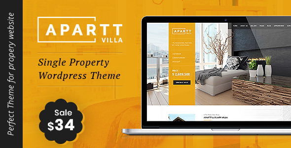 APARTT VILLA - Single Property Real Estate WordPress Theme