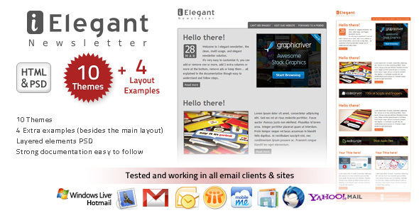i-Elegant Newsletter – 10 Themes
