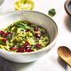 Avocado dip with Basil Olive oil and Pomegranate topping - PhotoDune Item for Sale