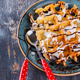 Belgian waffles with fresh berries and chocolate sauce. - PhotoDune Item for Sale