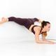Woman athlete doing an elbow wall split yoga pose - PhotoDune Item for Sale