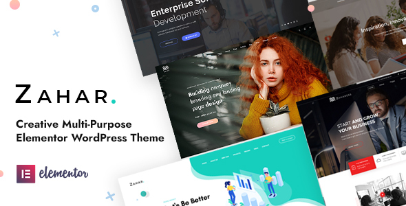 Zahar - Creative Multipurpose Elementor WordPress Theme