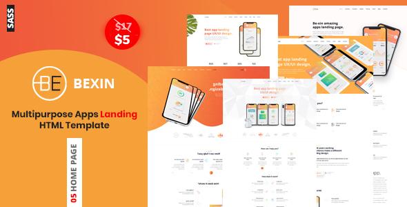 Exceptional Bexin - Sass App Landing HTML5 Template