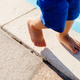 child walk feet close up - PhotoDune Item for Sale