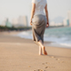 romantic woman walk on beach - PhotoDune Item for Sale