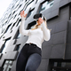 Woman Wearing Virtual Reality Glasses With Mordern City Background - PhotoDune Item for Sale