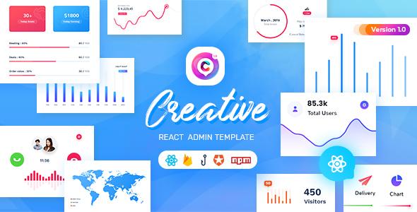 Creative - React Admin Template