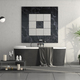 Minimalist black and white bathroom - PhotoDune Item for Sale