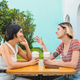 Loving lesbian couple having a date at coffee shop. - PhotoDune Item for Sale
