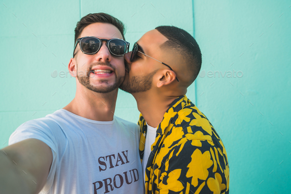 Gay couple spending time together. - Stock Photo - Images