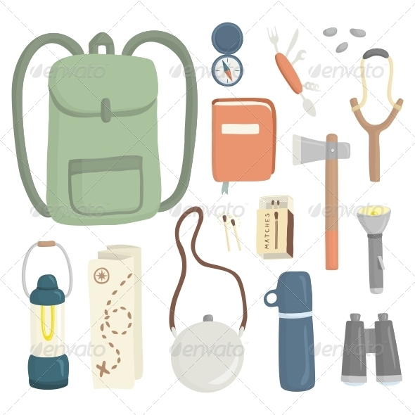Camping - Objects Vectors