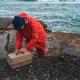 Fisherman with fishing equipment box. - PhotoDune Item for Sale