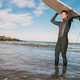 Young surfer holding up his surfboard. - PhotoDune Item for Sale