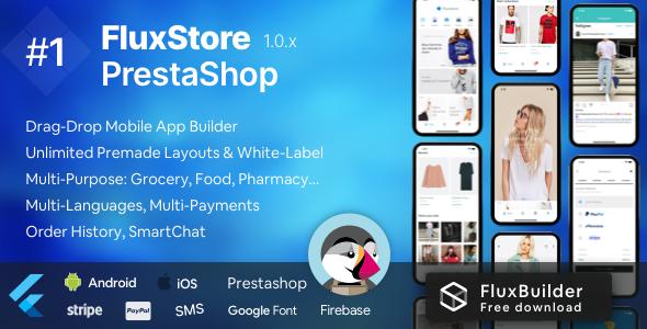 Fluxstore Prestashop - Flutter E-commerce Full App }}
