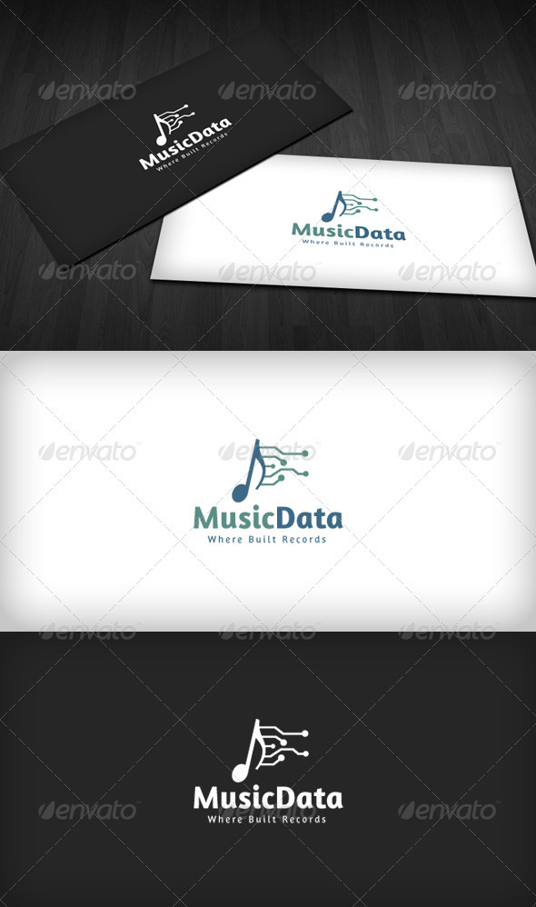 Music Data Logo - Symbols Logo Templates