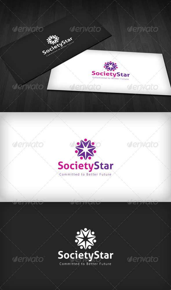 Society Star Logo - Humans Logo Templates