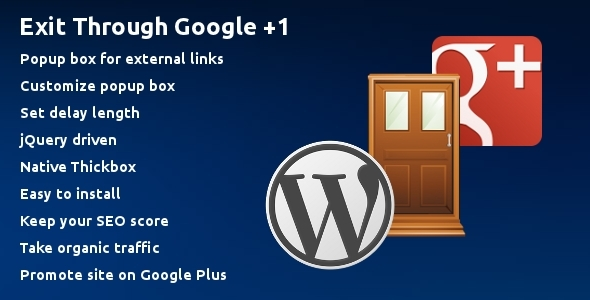 Exit Through Google +1 - CodeCanyon Item for Sale